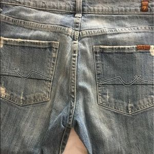 7 For All Mankind Button Fly Cuffed Jeans